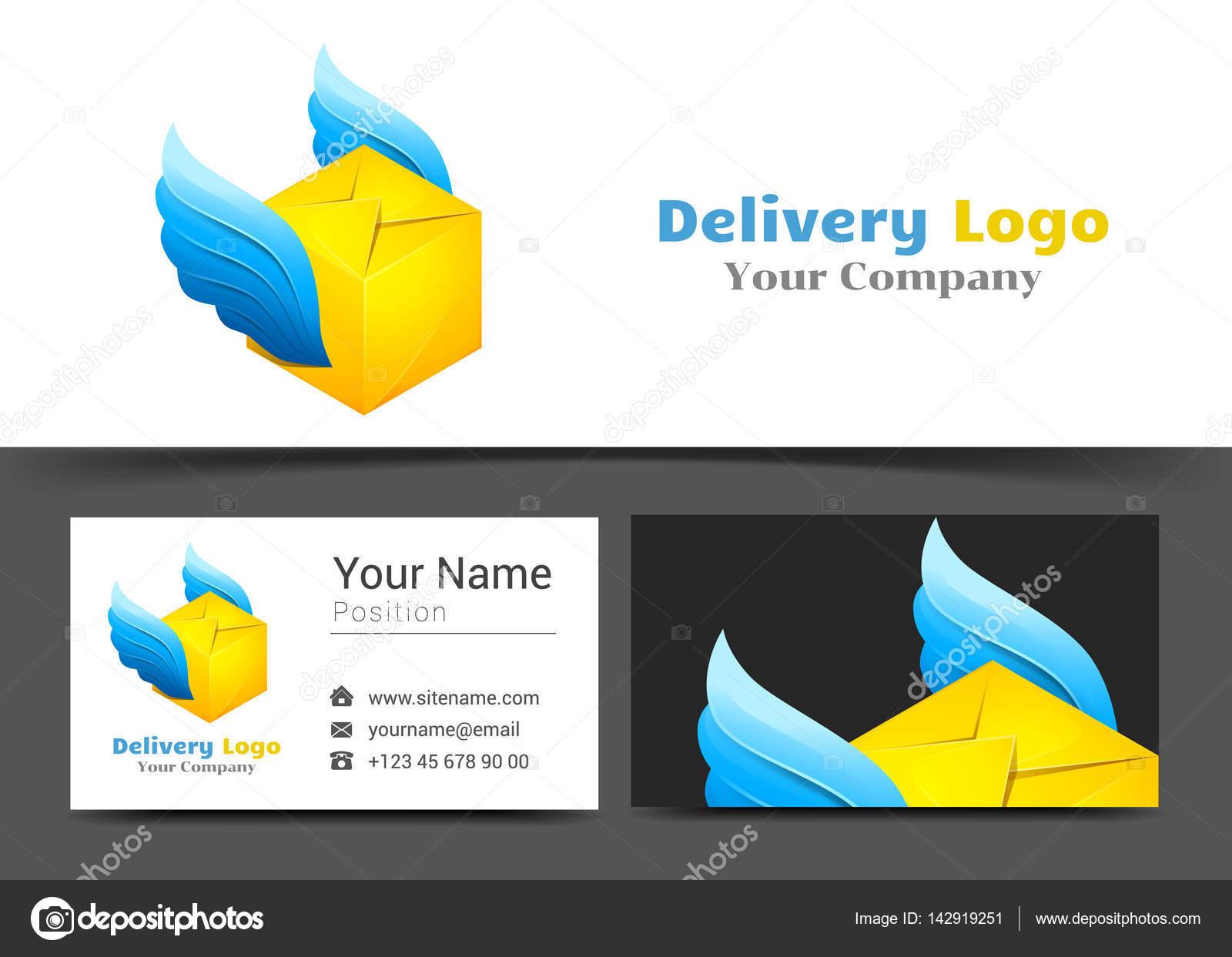 Lieferung Post Logo Und Visitenkarte Zeichen Vorlage