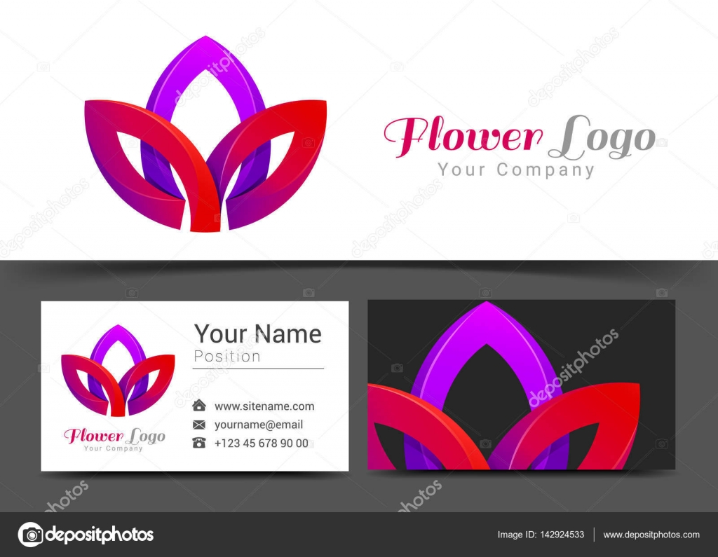 Lotus Flower Corporate Logo and Business Card Sign Template ...