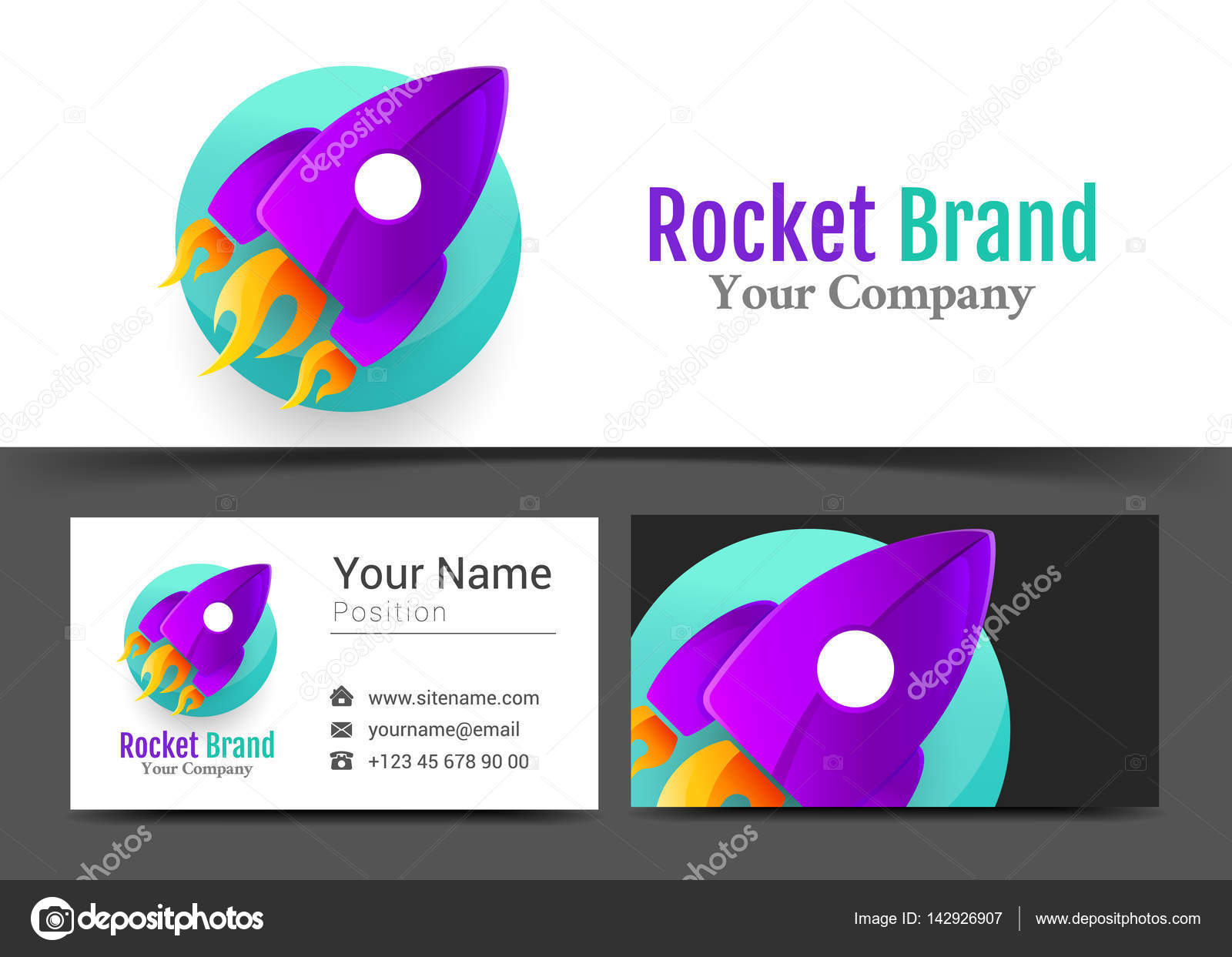 Startup Business Coach Corporate Logo and Business Card Sign ...