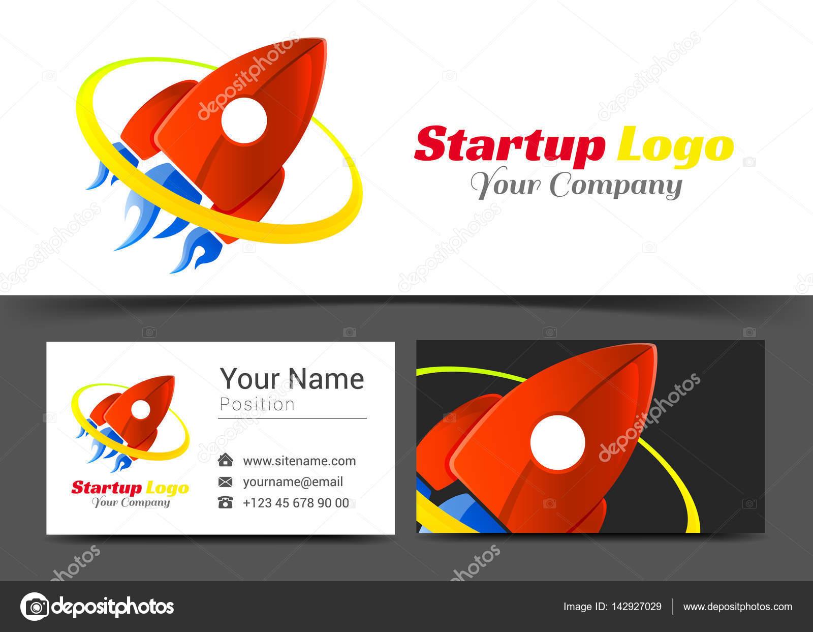 Logo Dentreprise De Voyage Red Rocket Et Modele Carte Visite Signe