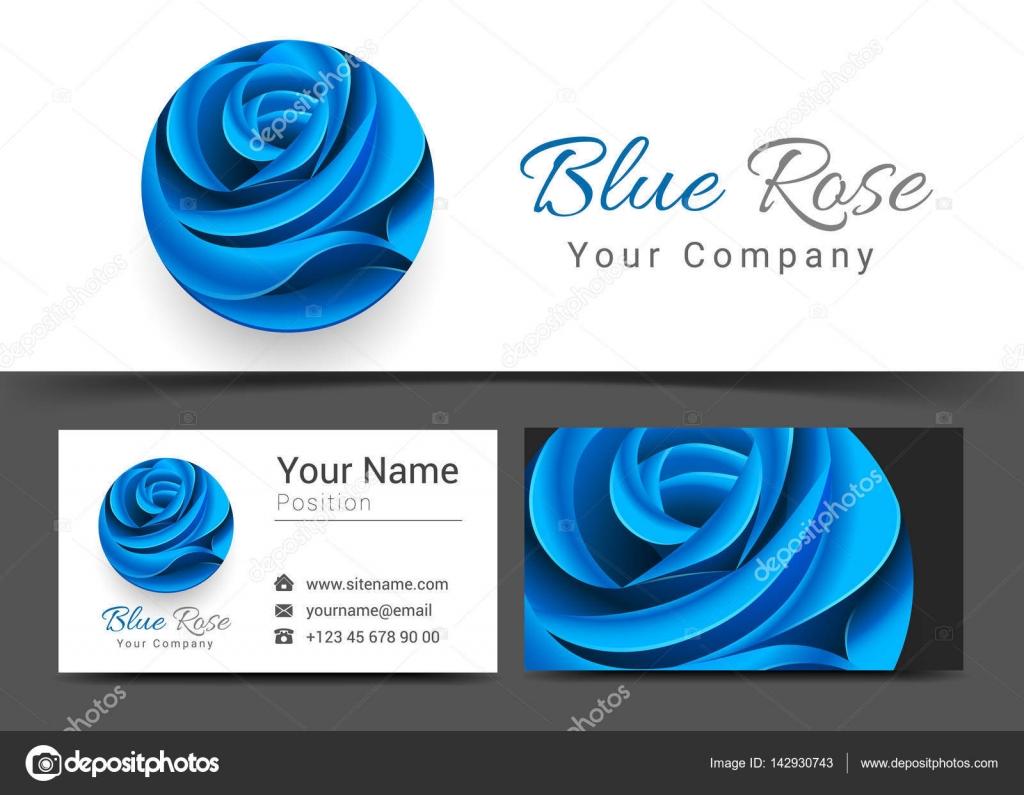 floral spa beauty salon body clinic blue flower rose corporate