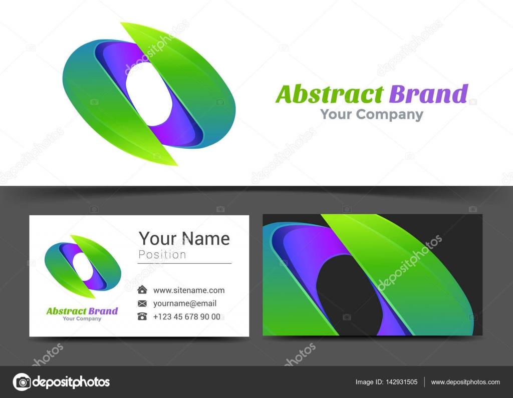 O logotipo corporativo y plantilla de tarjeta de presentación ...