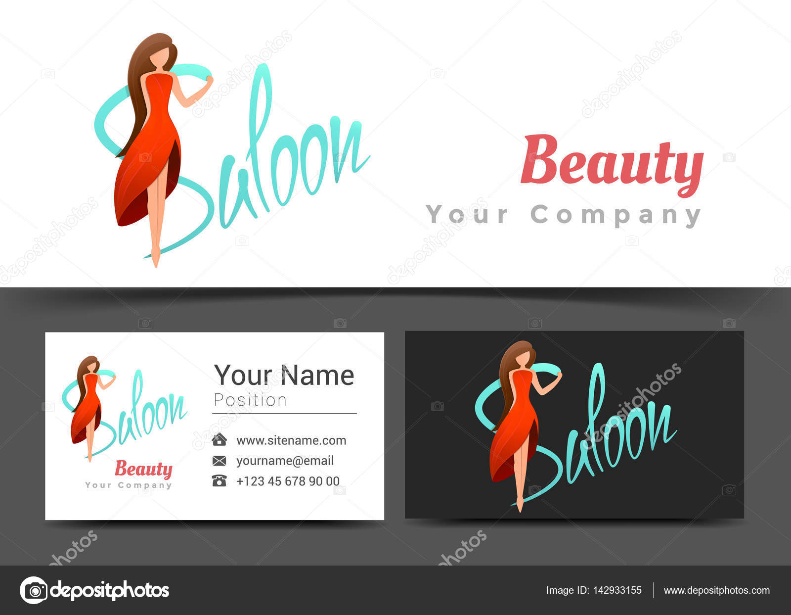 Beauty women saloon corporate logo and business card sign template beauty women saloon corporate logo and business card sign template creative design with colorful logotype colourmoves Gallery