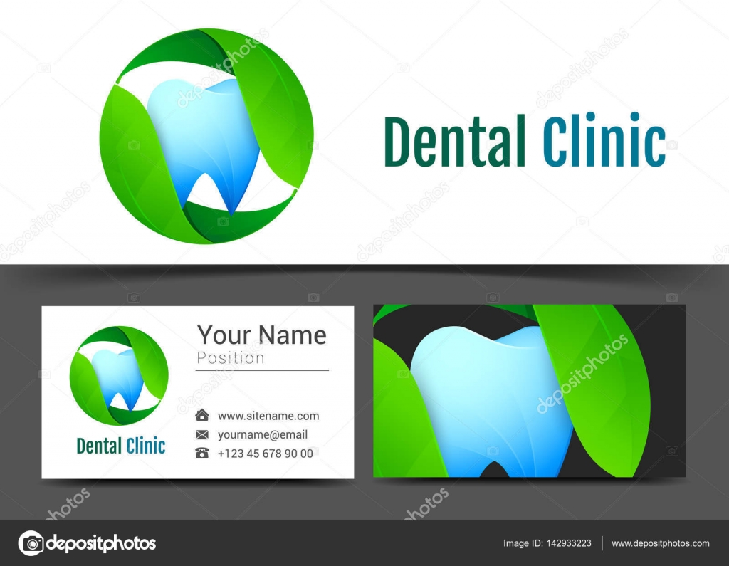Dental Zahnarzt Logo Und Visitenkarte Zeichen Vorlage