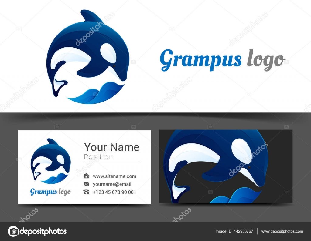 Grampus Corporate Logo and Business Card Sign Template. Creative ...