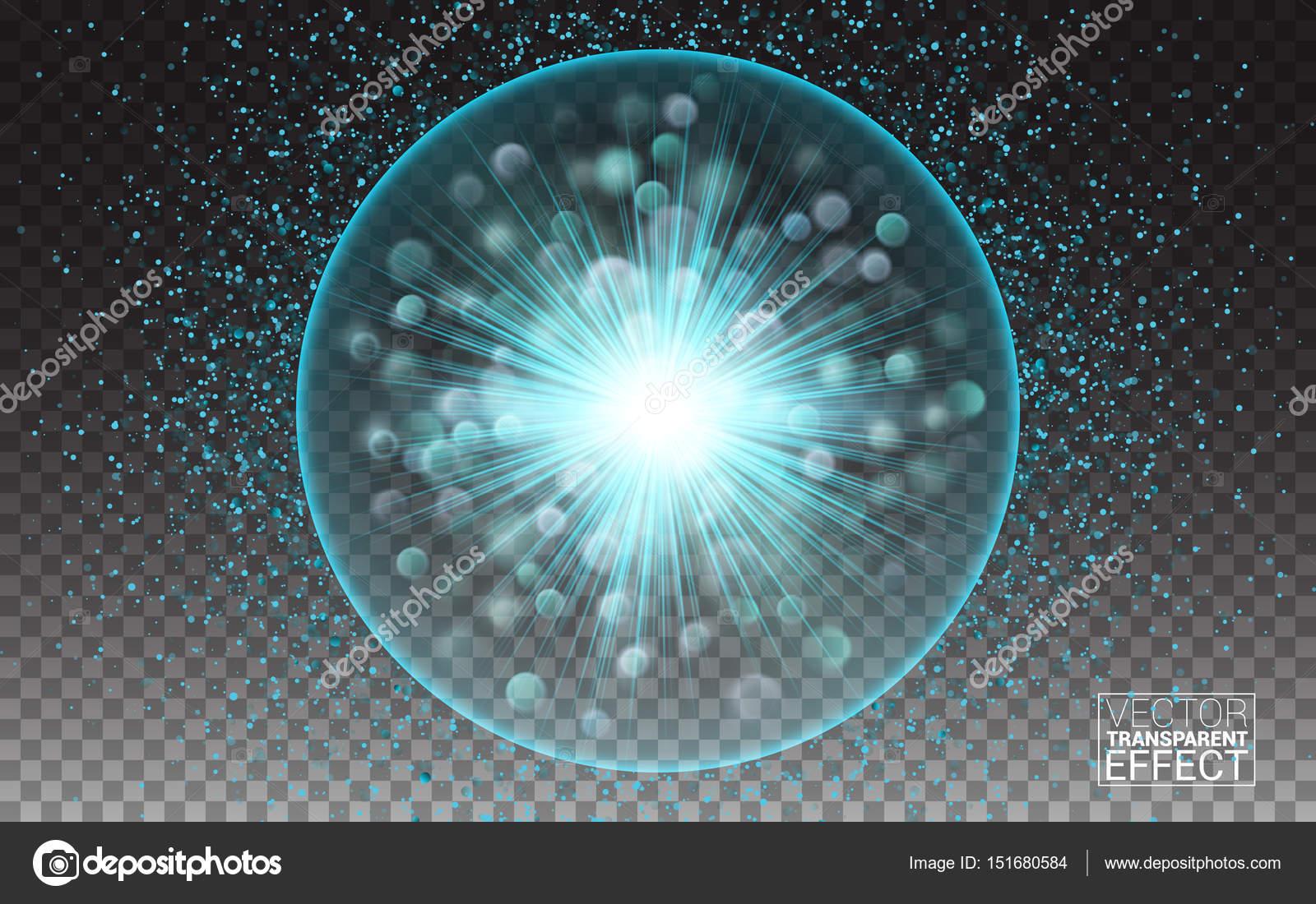 Vector ronde frame. Stralende cirkel spandoek. verlichting effect ...