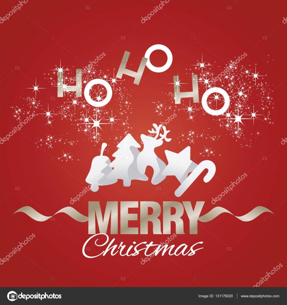 Ho Ho Ho Frohe Weihnachten.Ho Ho Ho Frohe Weihnachten Elemente Rote Vektor