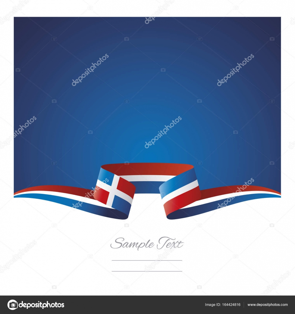 Abstract Background Dominican Republic Flag Ribbon Stock Vector