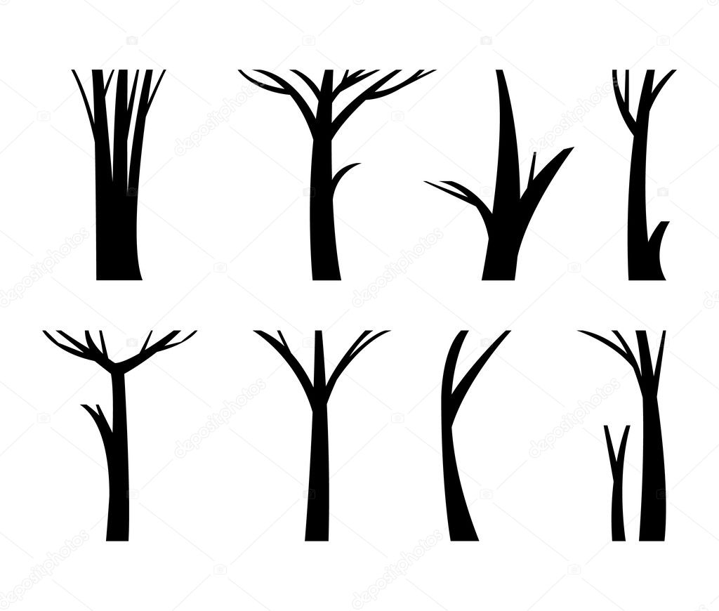 Vector illustration tree trunk.