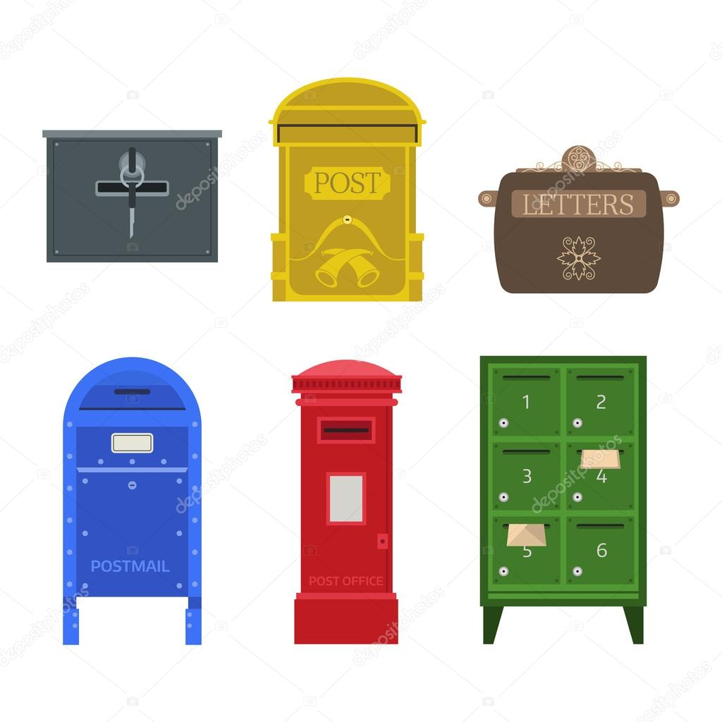 Post mail box vector set Stock Vector adekvat 125984482