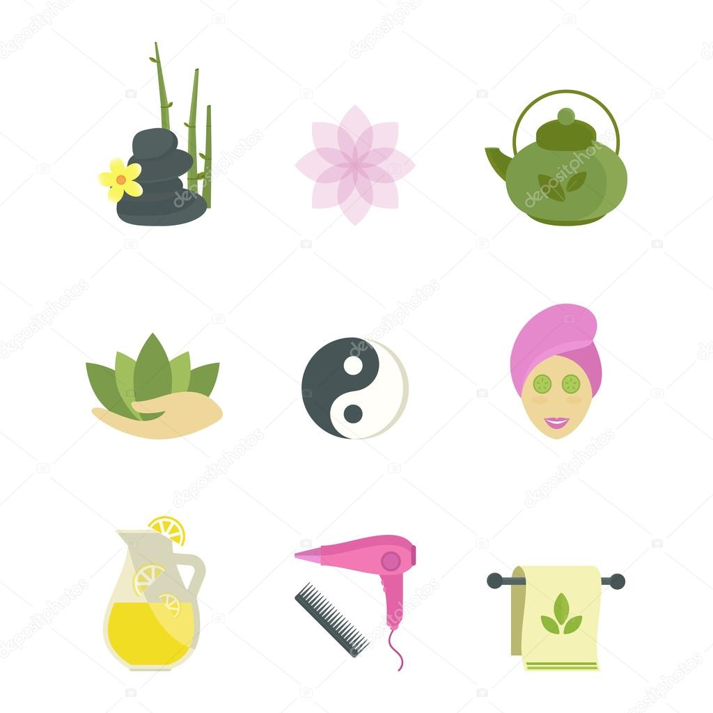 Spa Beauty Body Care Vector Icons Stock 125987816