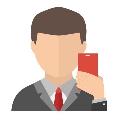 Selfie face vector illustration.