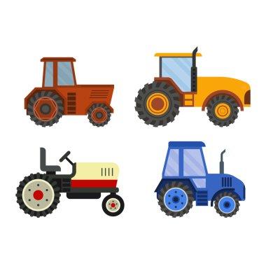 Harvester machine vector technic