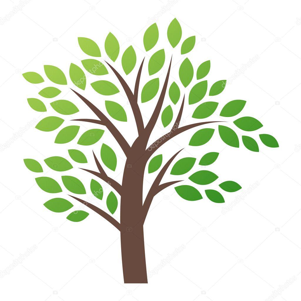 Icona di logo albero stilizzato vettoriale vettoriali for Albero ulivo vettoriale