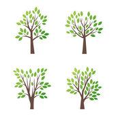 Fotografie stilisierter Vektorbaum Logo Symbol