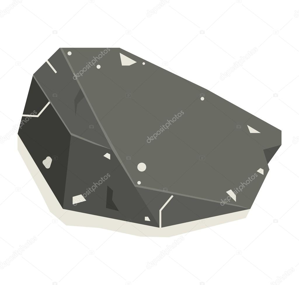Mineral stone vector isolated