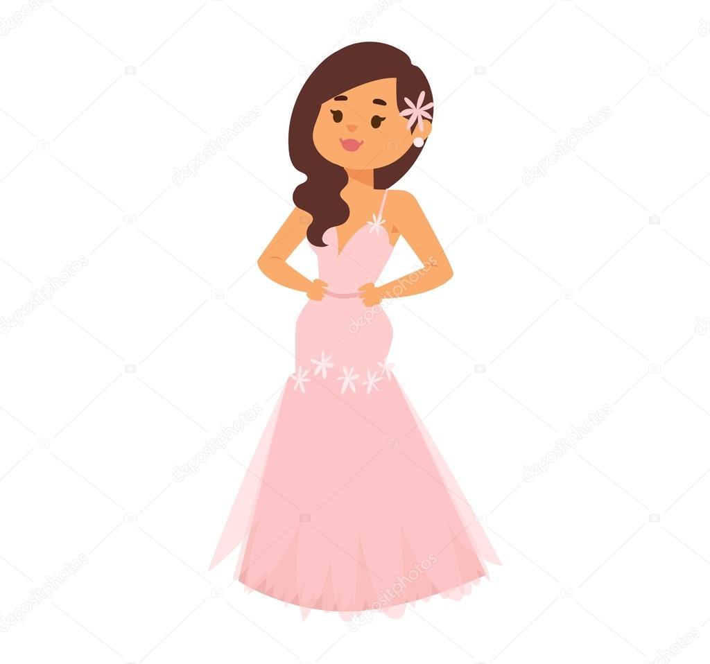 Vector de caracteres de chica de Novia de boda — Archivo Imágenes ...