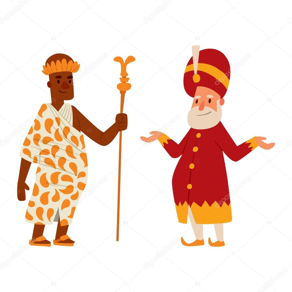 Dibujo Rey Y Reina Medieval Personaje De Vector De Dibujos