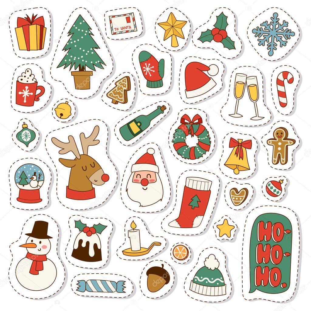 Рисунки про, символы рождества для открытки