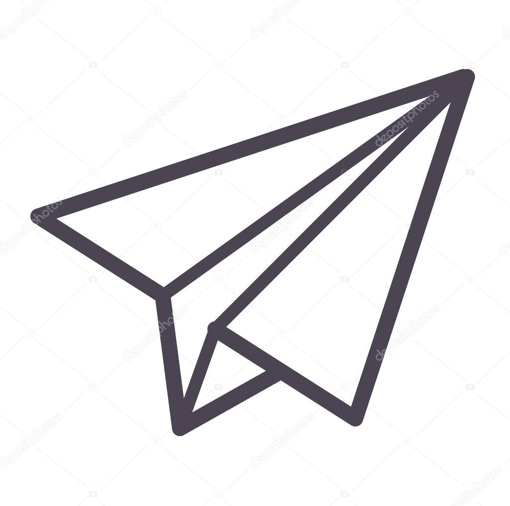 paper plane vector icon stock vector adekvat 128993728 rh depositphotos com paper airplane vector image paper airplane vector graphic free