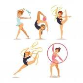 Gymnast girl vector illustration