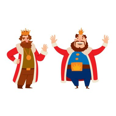 King cartoon vector character.