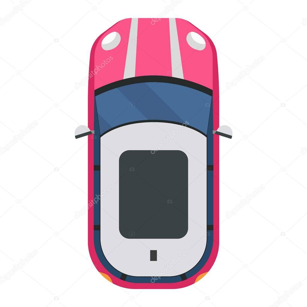 Car Top View Vector Isolated Stock Vector C Adekvat 129395038
