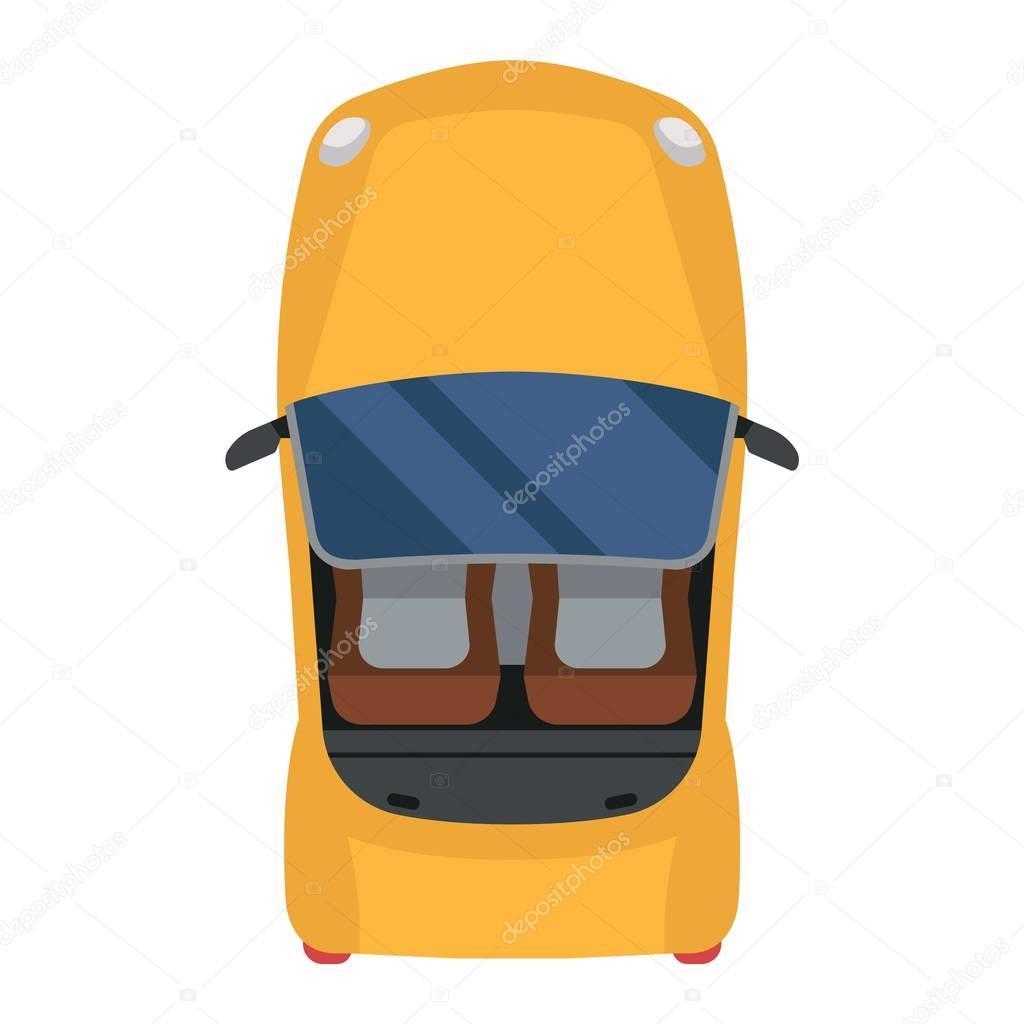 Car Top View Vector Isolated Stock Vector C Adekvat 129395042