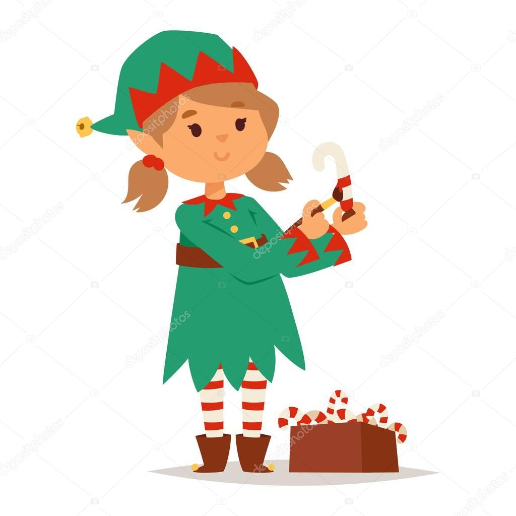 santa claus kid cartoon elf helper u2014 stock vector adekvat 130321102