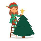Santa Claus Kinder Cartoon Elf Helfer