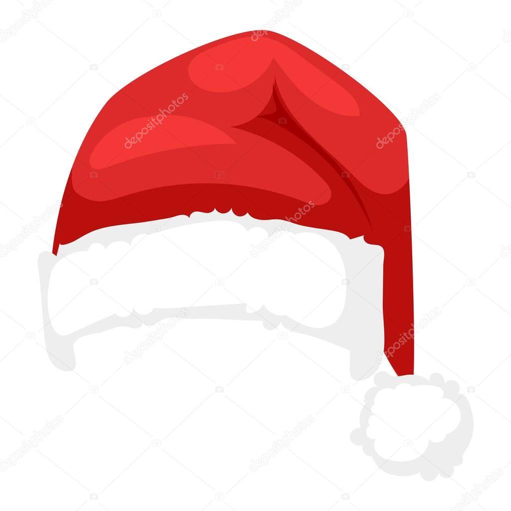 santa christmas hat vector illustration stock vector adekvat rh depositphotos com christmas hat vector free christmas hat vector free