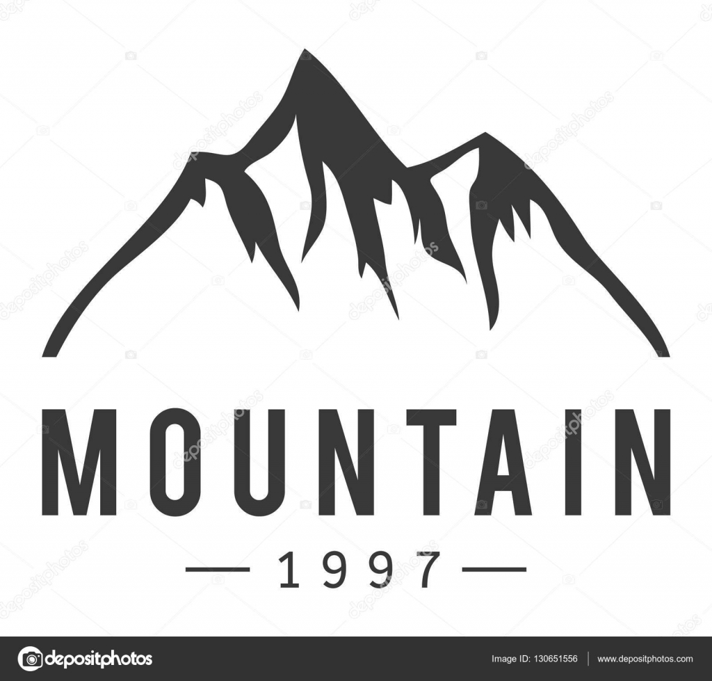 Mountain vector icon badge — Stock Vector © adekvat #130651556