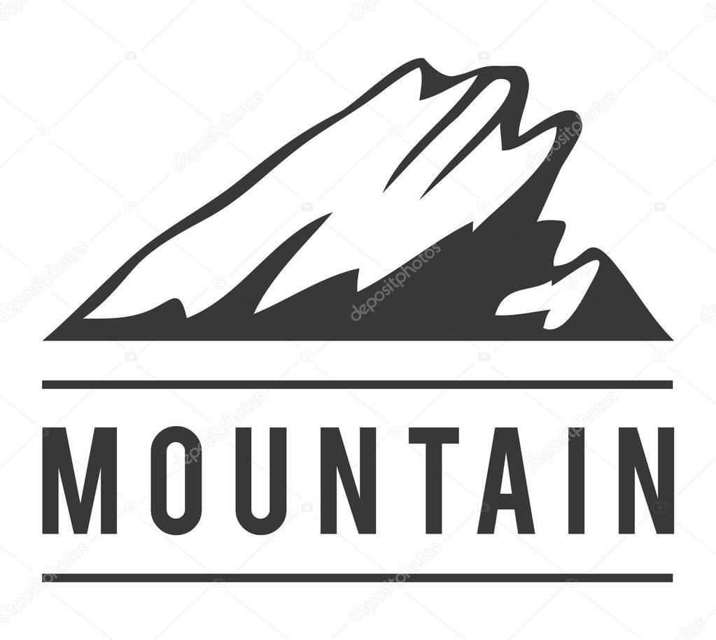 Mountain vector icon badge