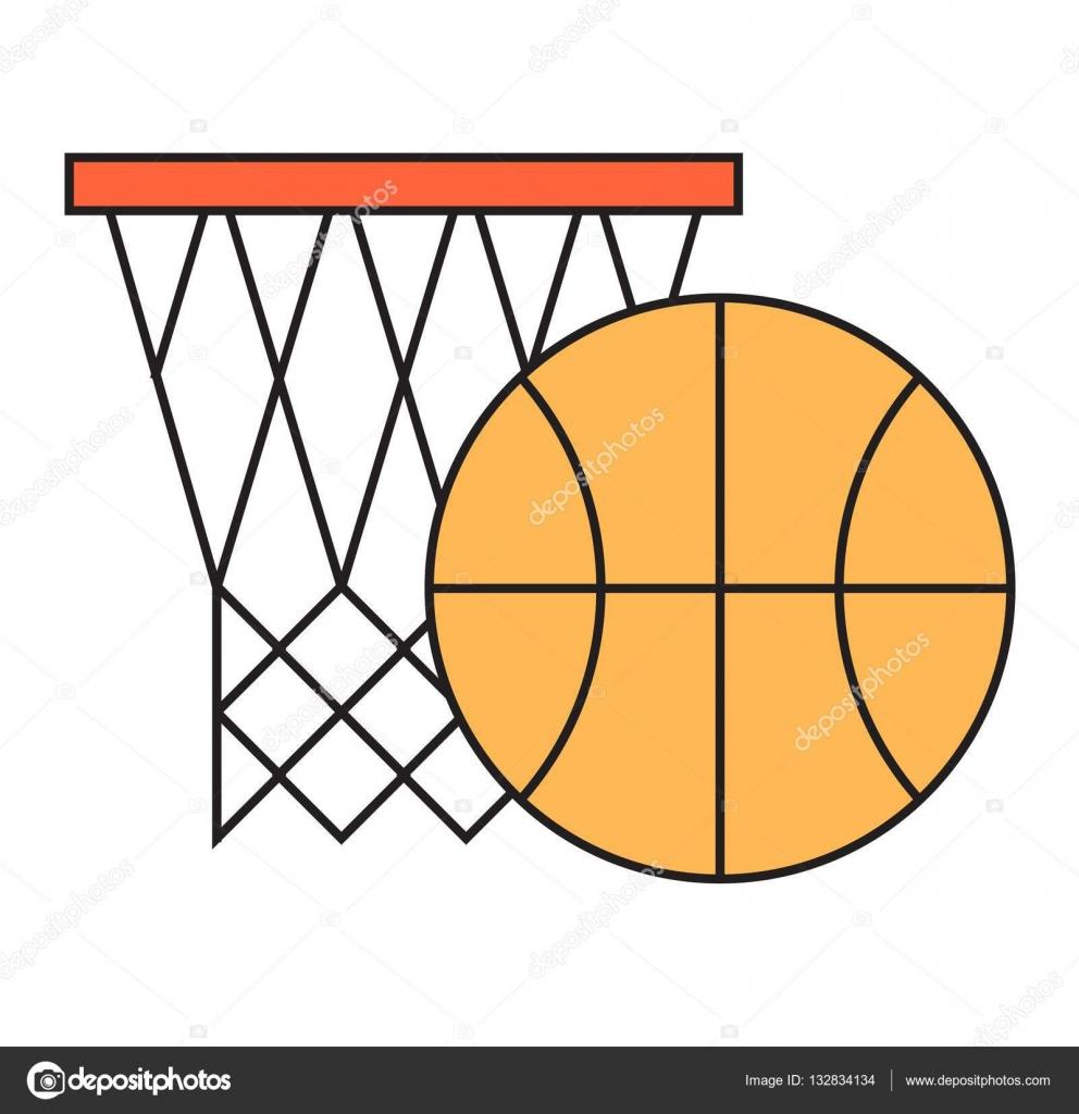 Basketball Hoop Sport Korb Vektor Illustration Stockvektor Diagram Spiel Wettbewerb Ausrstung Mannschaftswertung Turnier Bung Erfolg Gewinnen Activity Netz Und