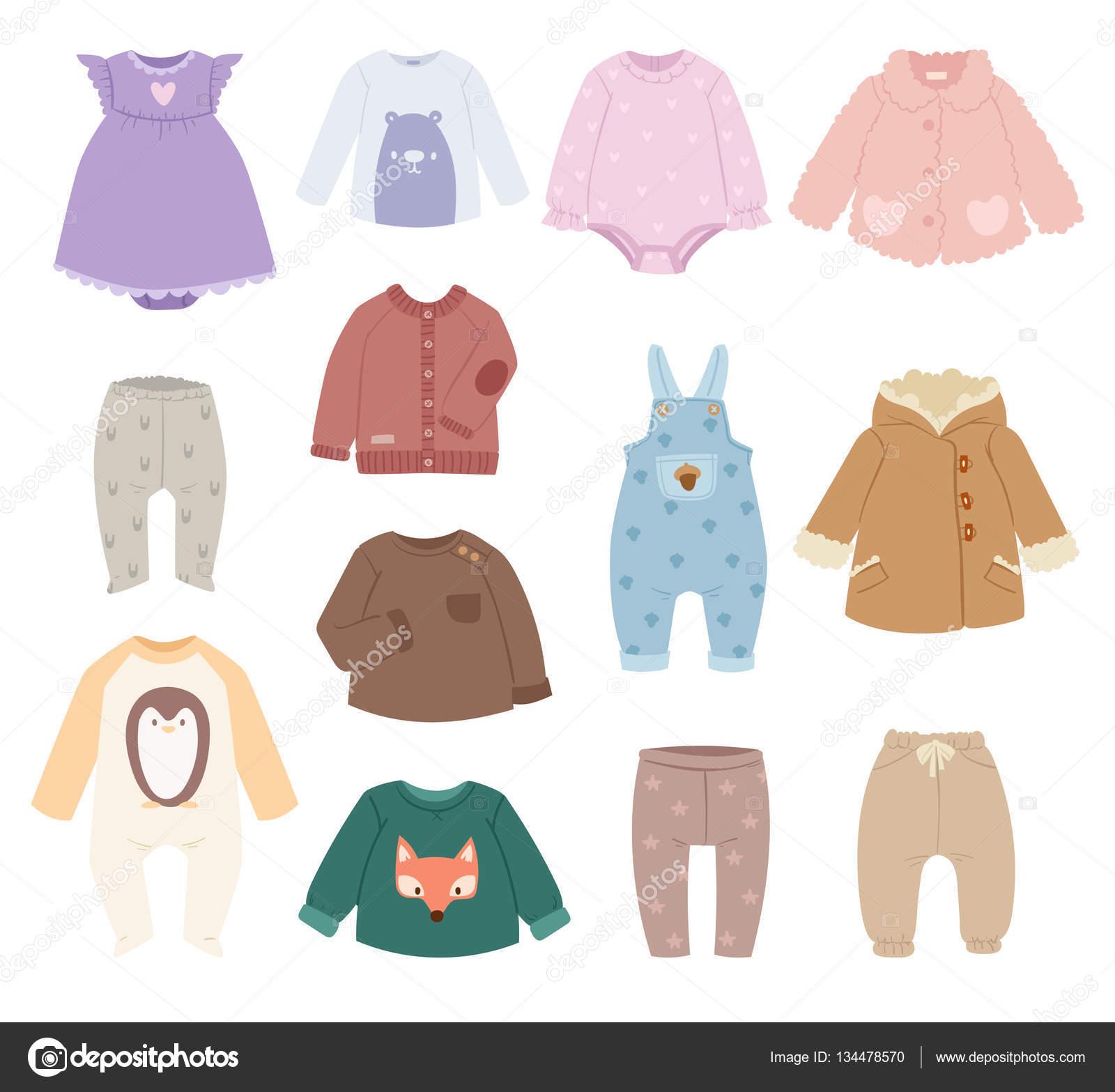 bebs beb vector de ropa infantil accesorios beb ropa moderna camisa coleccin fondo blanco los bebs usan ropa diseo ropa infantil moda algodn