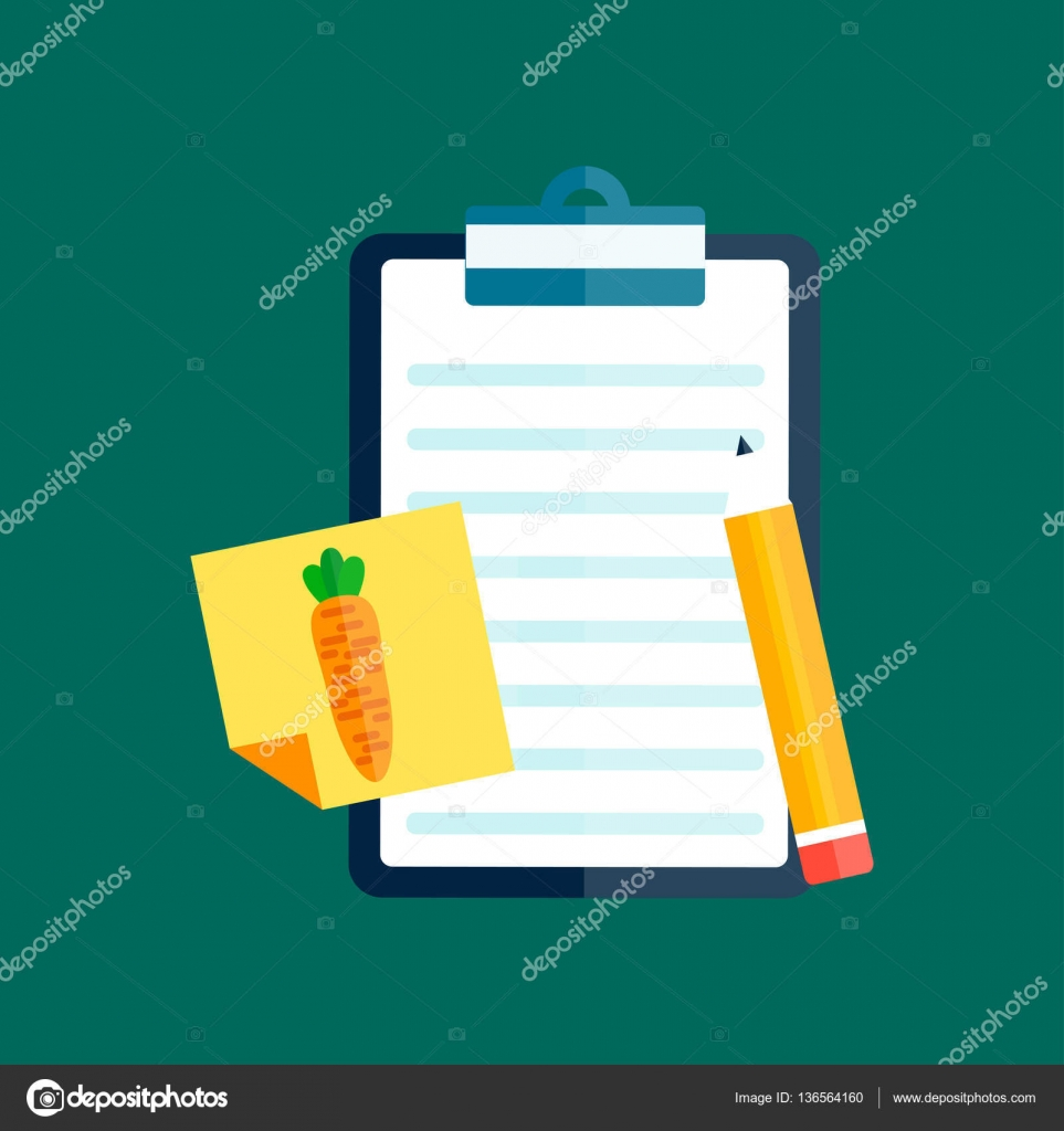 Notebook document checklist test vector — Stock Vector © adekvat