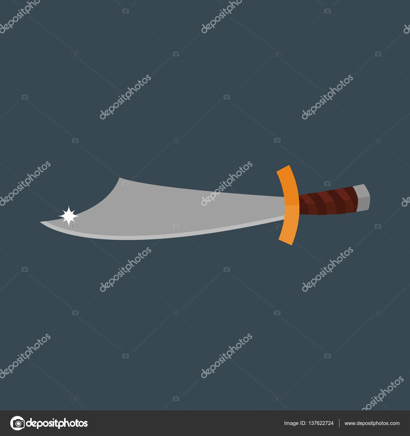 Messer Waffe Vektor Illustration Stockvektor C Adekvat 137622724