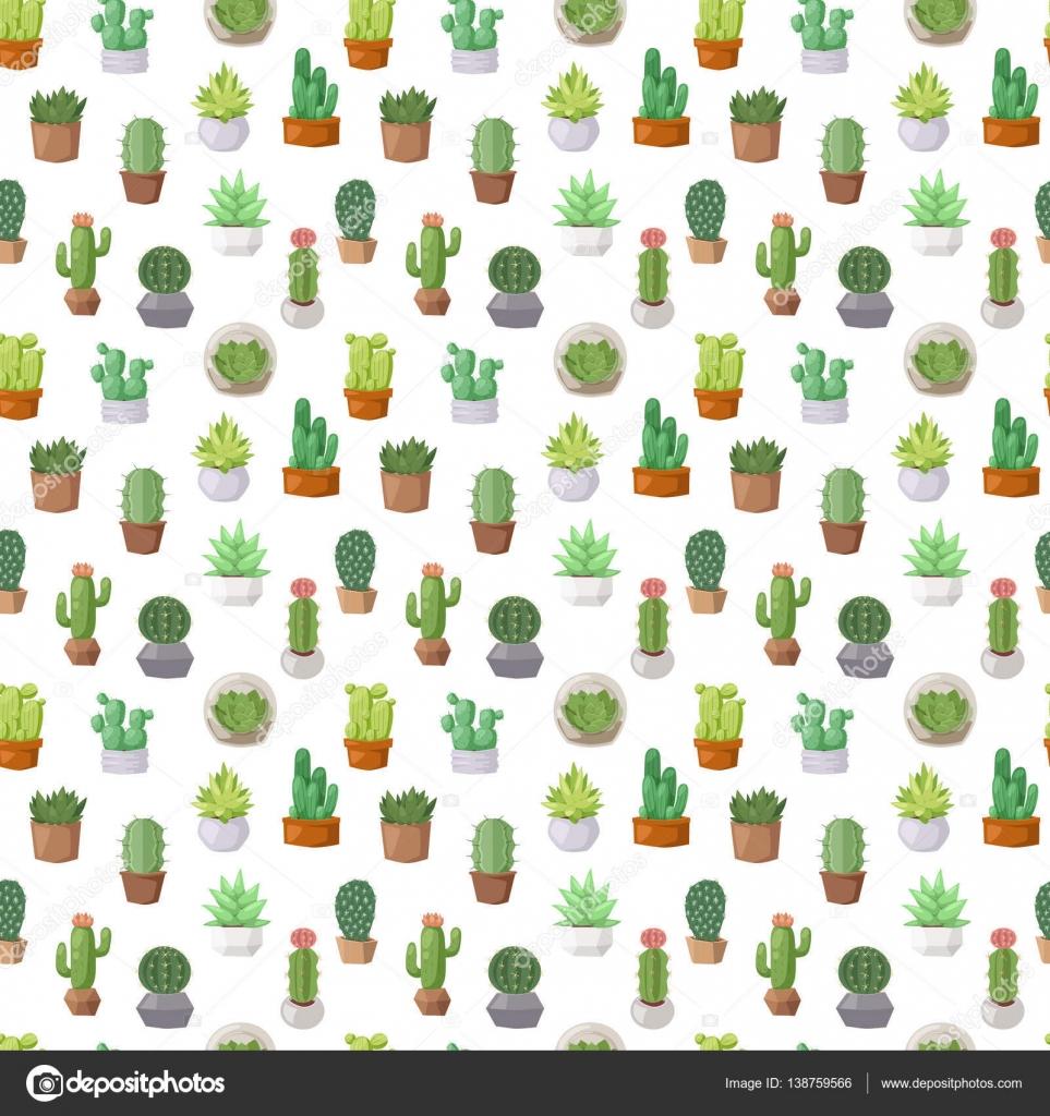 Kaktus doodle Musterdesign Vektor — Stockvektor © adekvat #138759566