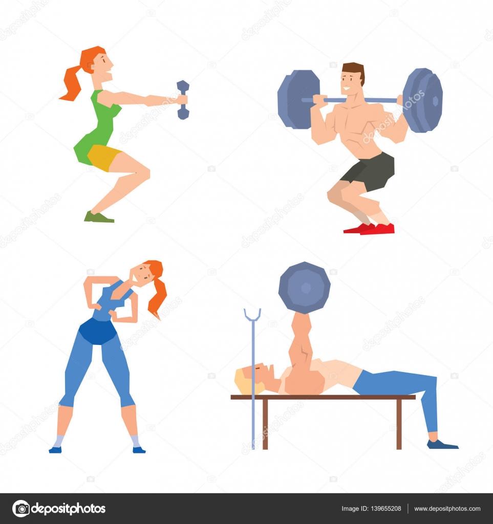 Imagenes animadas de ejercicio pictures to pin on for Gimnasio sport gym