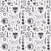 Fotografie Vector esoteric astrology symbols pattern