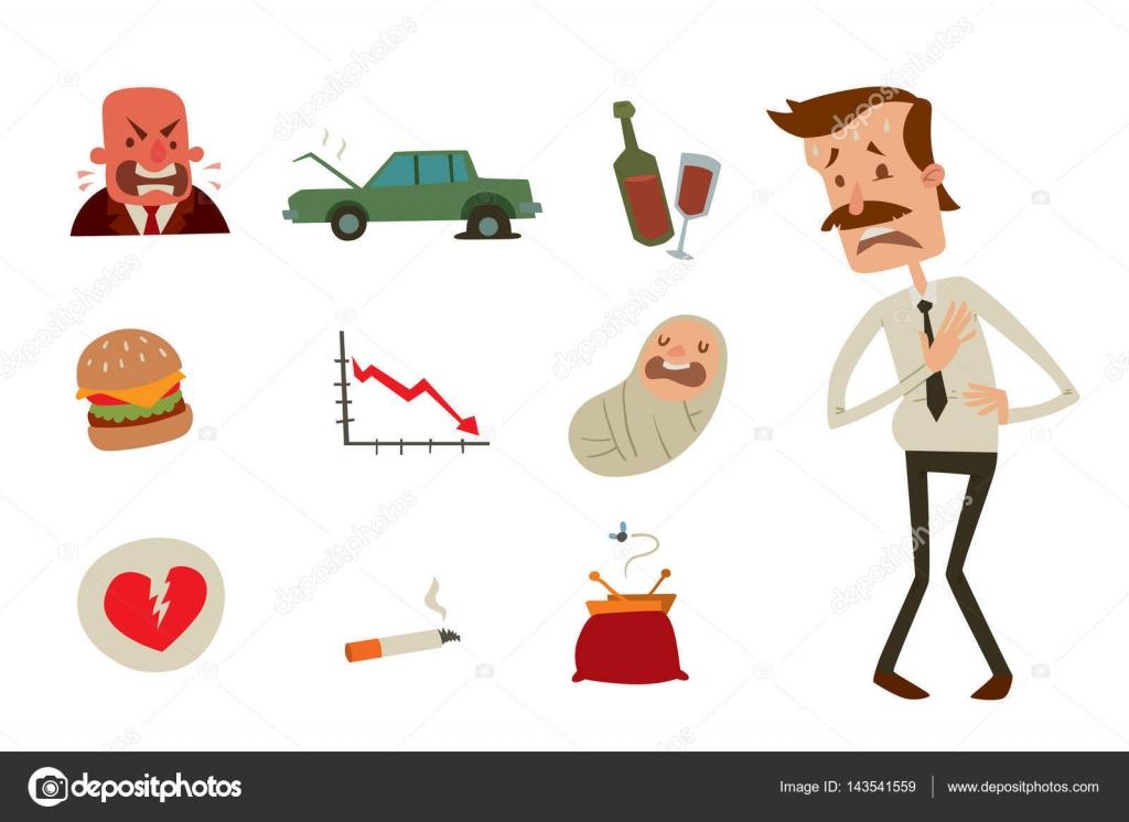 Businessman Heart Risk Man Heart Attack Stress Infarct