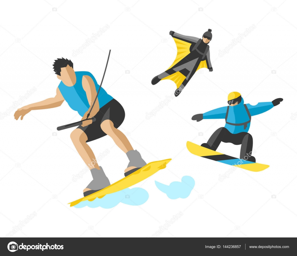 Roller skate xtreme - Vector Drawing Jumping Extremesilhouettes Illustration Life Skateboard Set Speed Skydiver Skateboarder Roller Skate Wakeboard Surfing Flyboard