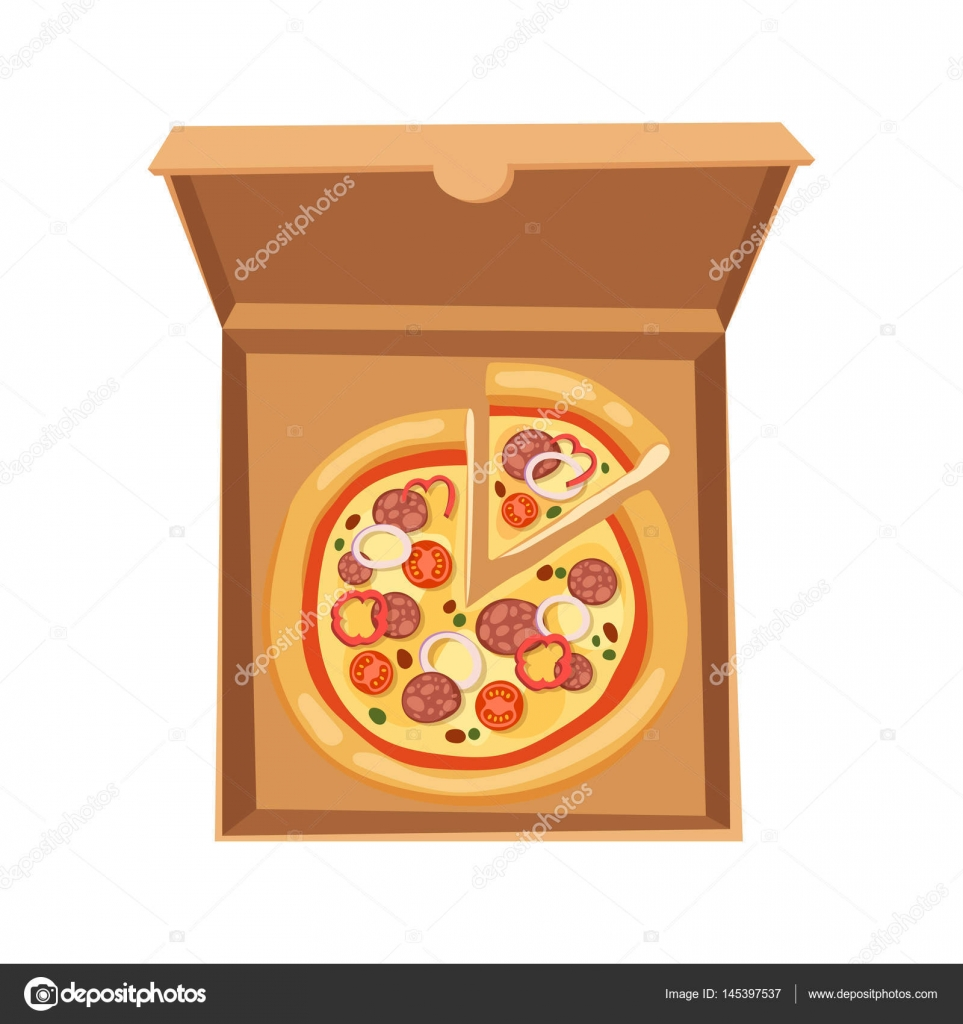 pizza box vector illustration cardboard carton object package isolated paper container food. Black Bedroom Furniture Sets. Home Design Ideas