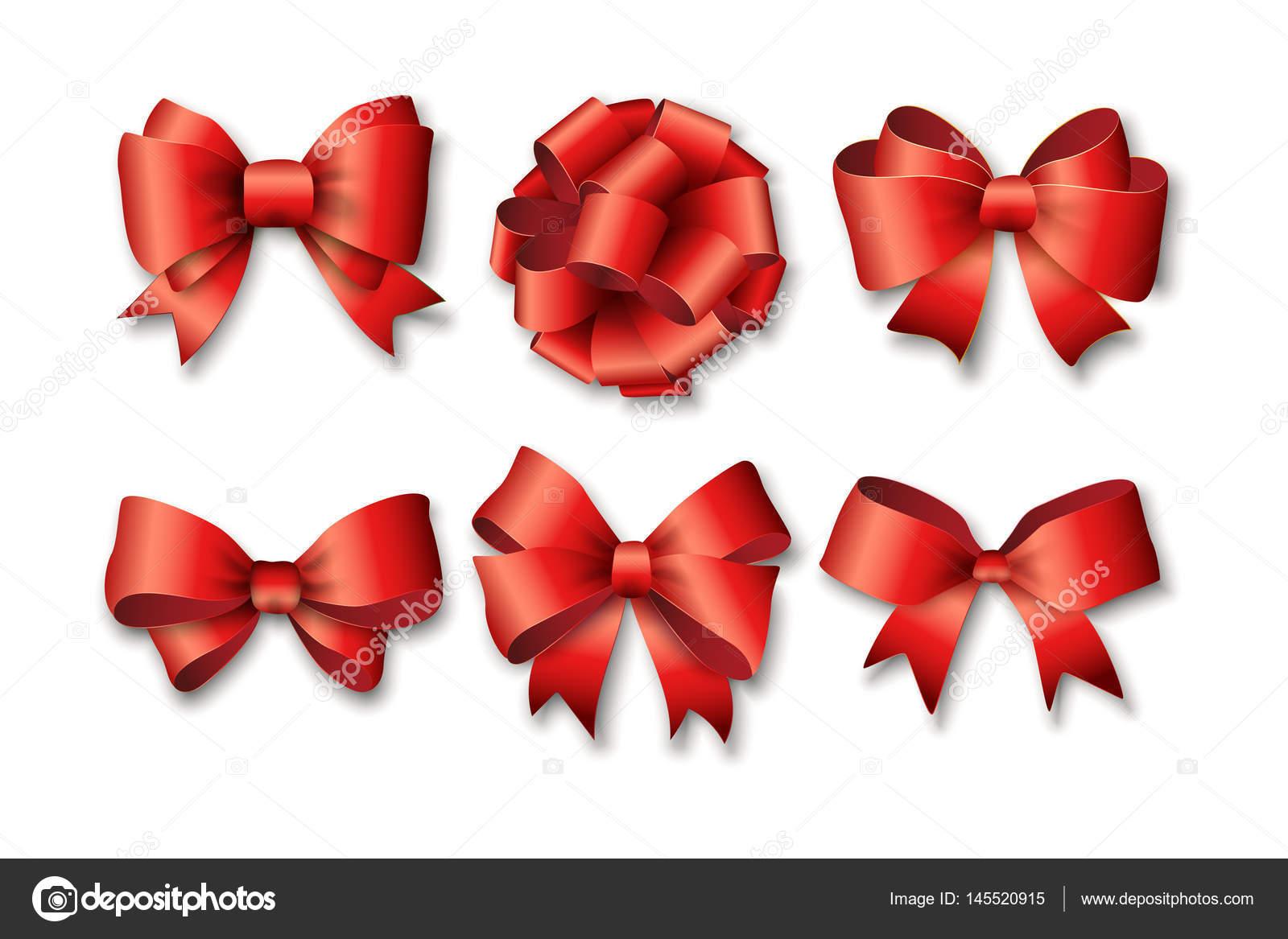 lazos rojos set para regalos vector ilustracin cintas de regalo rojo y arcos para ao nuevo celebran cumpleaos navidad u vector de adekvat