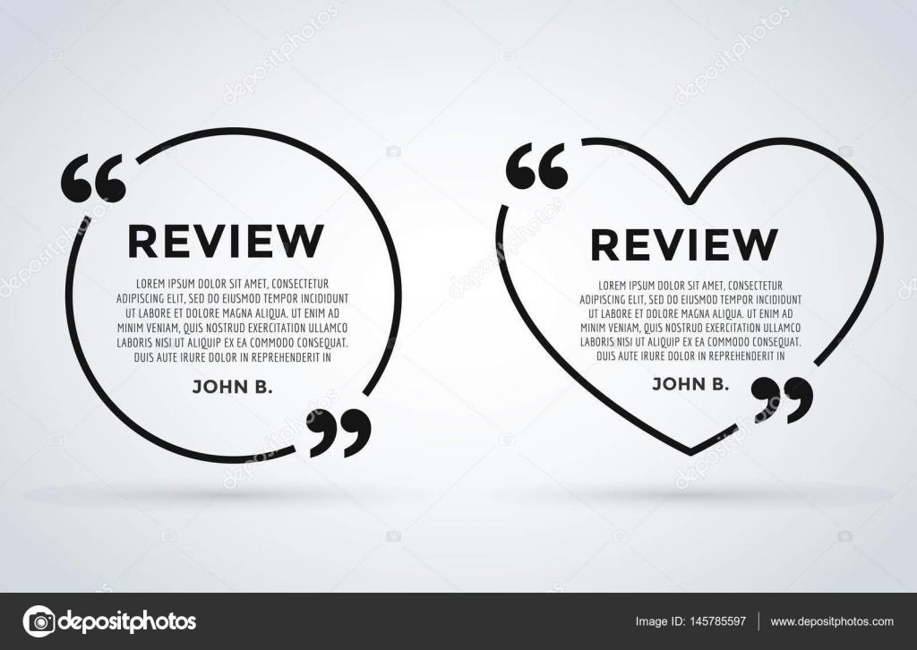 Sitio web revisar cita cita en blanco plantilla vector icono ...