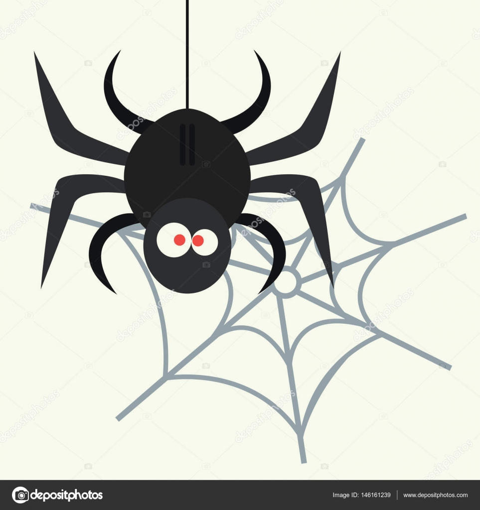spider silhouette arachnid fear graphic flat scary animal poisonous design nature phobia insect danger horror tarantula halloween vector icon - Phobia Halloween