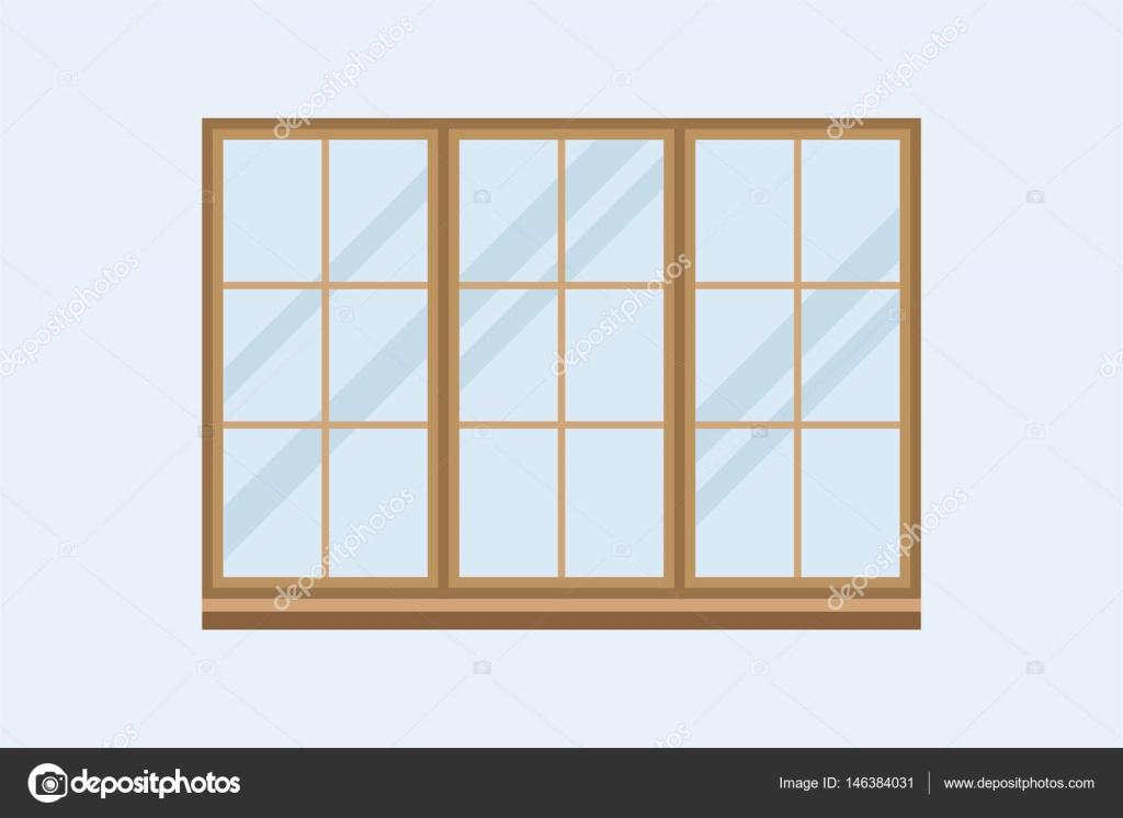 Haus Windows Elementtyp isoliert flachen Stil inländischen Tür ...