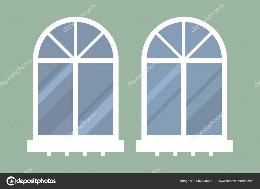 Tipo de elemento de windows de casa aislada estilo plano interno ...