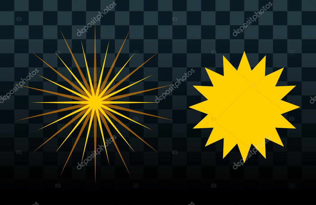 Sun burst star icon set vector illustration summer isolated nature shine sunlight sunbeam spark sunrise sign sunny symbol light shape sunshine solar
