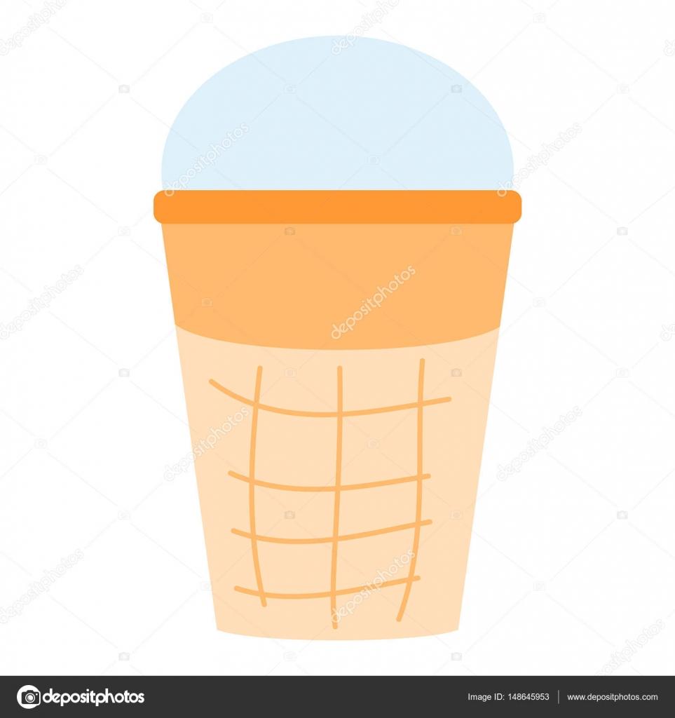 helado postre vector ilustración alimentos chocolate dulce frío ...